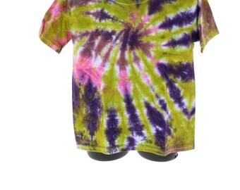 Tie Dye T-Shirt, Kids XS, Trippy, Hippie Spiral T-Shirt