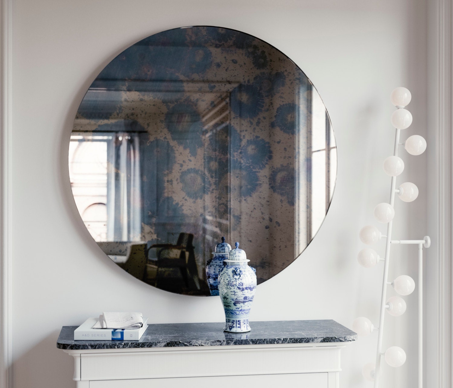 Small round mirrors for crafts - Small Frameless Mirrors For Crafts Dark Round Antique Mirror 23 Round Antiqued Frameless Mirror Perfect