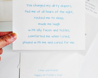 Sweet 1st Father's Day Card From Baby // Baby's Point Of View // Humor // Charitable Donation