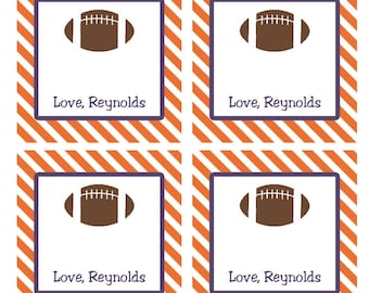 Personalized Football Enclosure Cards