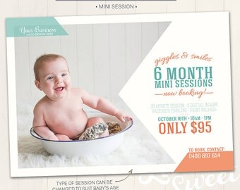 Mini Session Marketing Board / Photography Marketing Board - Photoshop Template for photographers (DM14) - INSTANT DOWNLOAD