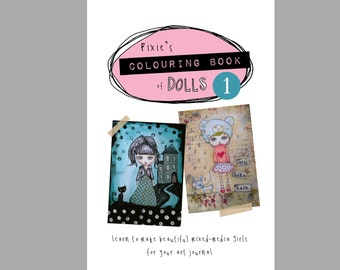 Colouring Book of Dolls, original drawings, kids colouring books, creative art books.