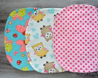 Baby Burp Cloths - Set of 3
