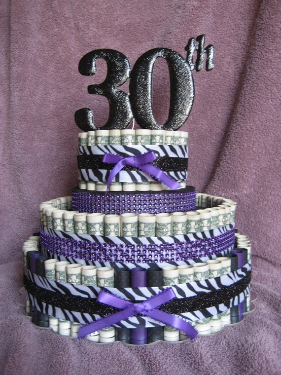 Money cake a 30th celebration a fun unquie by creativecreationsmc - Money cake decorations ...