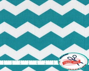 TEAL CHEVRON Fabric by the Yard, Fat Quarter Turquoise Fabric Aqua Chevron fabric 100% Cotton Fabric Quilting Fabric Apparel Fabric a1-7