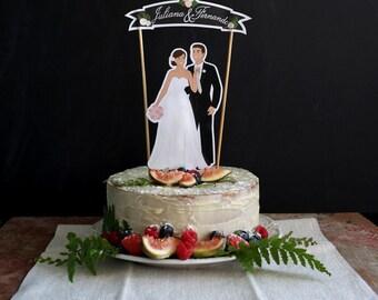 Basic Paper Wedding Cake Topper, Digital Wedding Paper Cake Topper,  Ceremony Keepsake