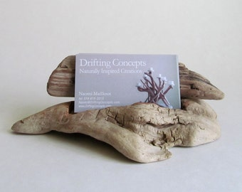 Carved Driftwood Business Card Holder, Driftwood Business Card Display, Driftwood Business Card Display, Wood Business, Wood Card Holder