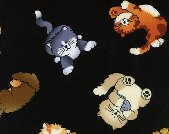 Patchwork Quilting Fabric Timeless Treasures Cat-C9752-Black