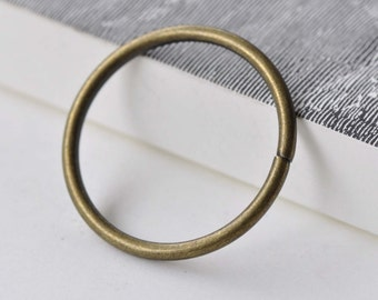 10 pcs Large Jump Rings Antique Bronze Thick Circle OD Rings 40mm 8 gauge A7929