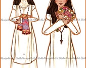 Saint Rose of Lima Paper Doll in Color (Articulated)