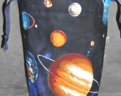 Astronomy Small Drawstring Project Bag