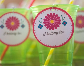 Printable Drink Labels - Fiesta - Mexican - Cinco De Mayo