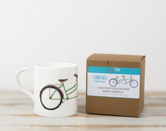 Straight-sided Tandem Bicycle / Bike China Mug by Yellowstone
