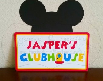 Mickey Mouse Clubhouse Birthday Welcome Sign / Centerpiece - FILE to PRINT DIY