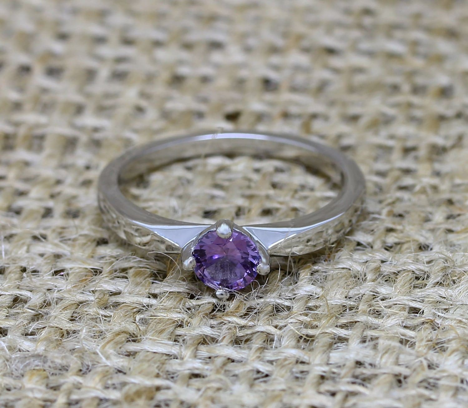 alexandrite ring alexandrite wedding band Alexandrite and Titanium solitaire ring engagement ring wedding ring