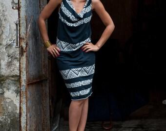 Midi dress Aztec