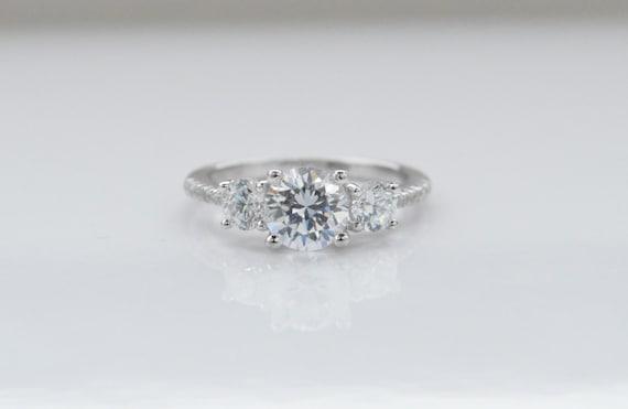 three engagement ring unique engagement ring 3