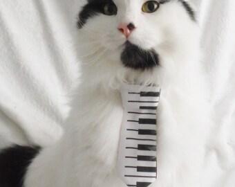 Retro Piano key Necktie for cats. Pet Cat dog accessories.