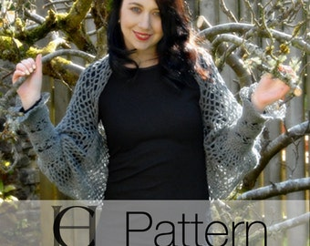 Victorian Lace Shrug, Crochet Pattern, Instant Download Pdf