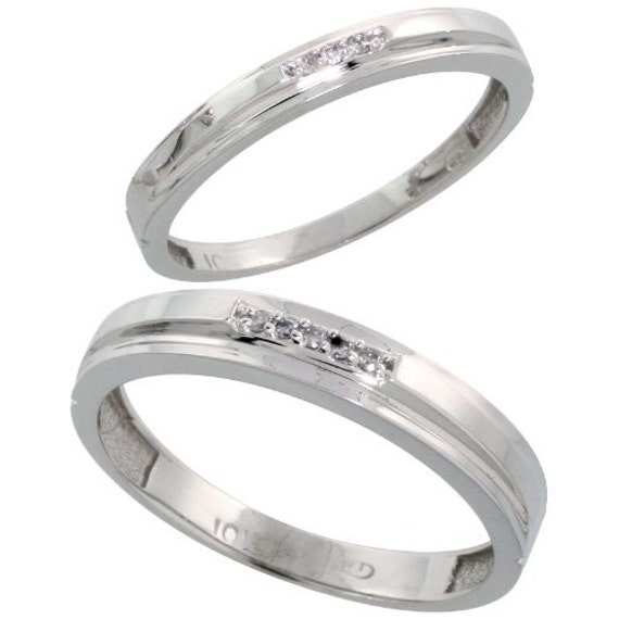 white gold wedding rings for him affordable