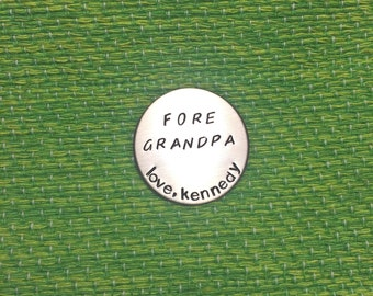 Grandpa Golf Ball Marker - Stainless Steel - Father's Day - Dad - Gift - Present