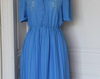 Vintage 70s babyblue dress//Vintage 70