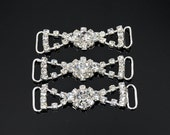 3 pcs Small Rhinestone applique, crystal Applique for flower girl, garter, Headpieces, Gowns, Costumes, DIY weddings, hair clips - B0190