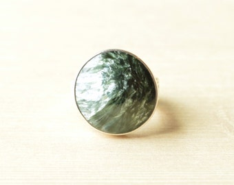 Seraphinite Feathered Ring