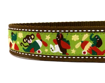 Animals is airplanes dog collar / ribbon dog collar/ adjustable dog collar