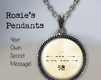 MORSE Code Necklace - Morse Code Pendant - Custom Morse Code Necklace - Secret Code - Unique Birthday Gift Idea