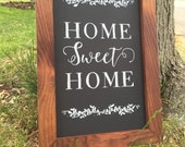 Rustic Home Sweet Home Chalkboard Home Decor