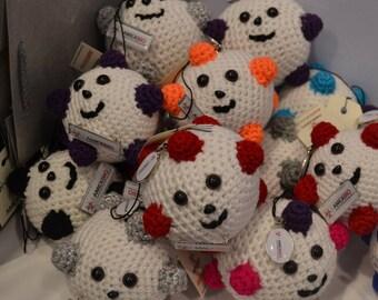 Virus in crochet, handmade models.