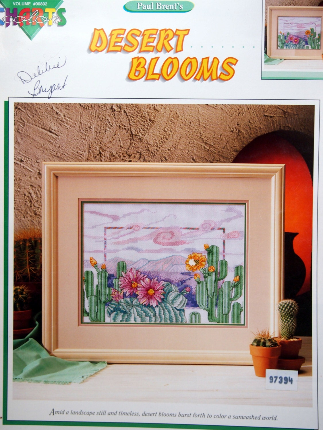 Desert Blooms By Paul Brent Vintage Cross Stitch Pattern