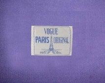 Vintage 1960's Vogue Paris Original Sew In Label Unused ~ FREE SHIPPING in USA