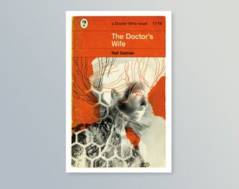 Doctor Who | The Doctor's Wife | Penguin-style book cover postcard