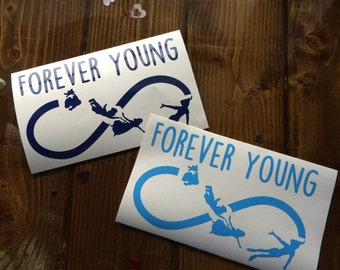 Forever Young Peter Pan Decal