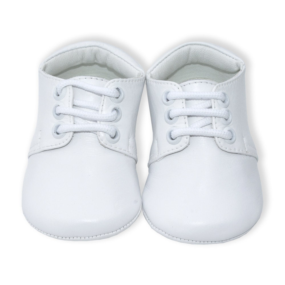 boys white leather christening shoes shoes with laces boys