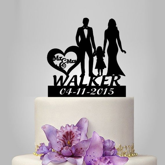 Personalized Wedding Cake Topper With Little Boy