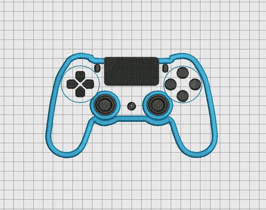 Video game controller sony playstation ps style applique