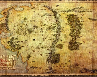 The Hobbit Map (size 610x910mm)