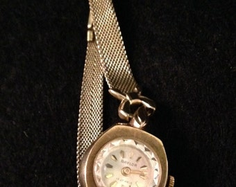 Vintage Baylor 10K Gold Filled 17 Jewel Swiss Made Ladies Wrist Watch