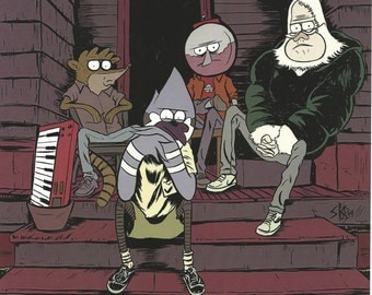 Regular Show Homies -- Ltd Edition Print