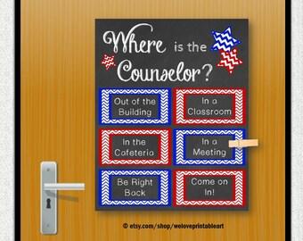 Custom Door Decoration School Counselor Gift by ...