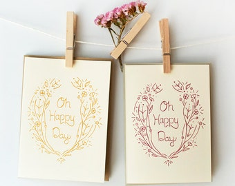 Wedding Card, Engagement Card, Birthday Card, Oh Happy Day Card, Item #030