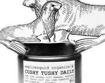 Organic Diaper Cream - 7oz - Cushy Tushy Daily - Organic Baby Diaper Cream - Organic Diaper Balm - Natural Baby Balm