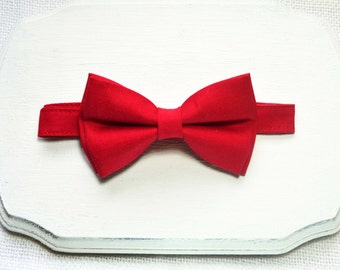 Red bow tie For baby/Toddler/Teen/Adult/with Adjust strap/Clip on