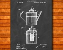 "Retro 1894 ""Coffee Percolator"" Vintage Patent Illustration, Art Print Poster, Wall Art, Home Decor, Coffee Brewing, Beverage, Gift Idea 223"