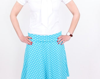 "Skirt ""Rudi"" Turquoise points"