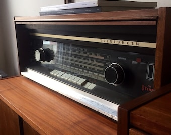 Mid century stereo german modern Telefunken vintage reciever and speakers