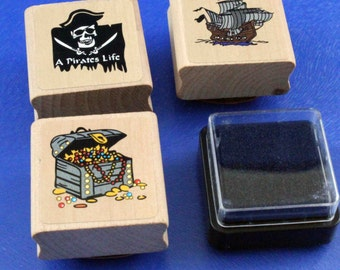 A Pirates Life Rubber Stamps and Ink Pad